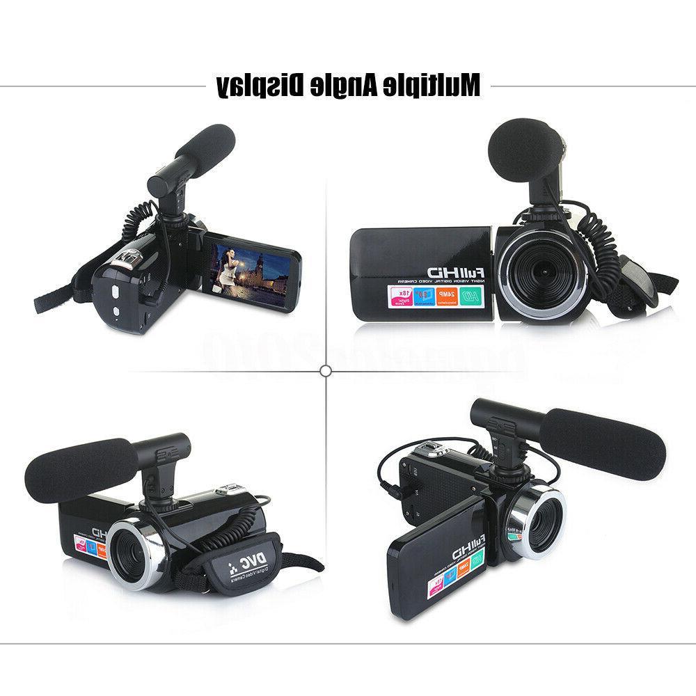 HD 1080P 18X ZOOM Digital Camera Camcorder Night