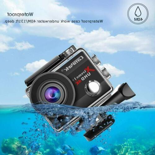 Campark 4K 20MP 1080P Waterproof Sport Camera EIS as Go Pro