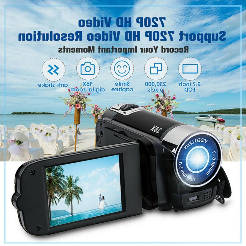 "FULL 1080P 16MP 2.7""LCD ZOOM Video Camera US"
