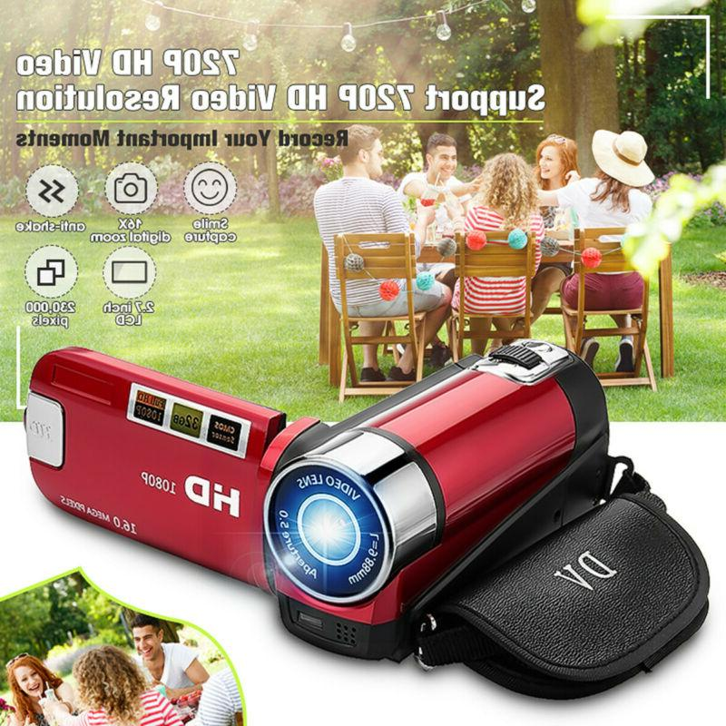 "FULL HD 1080P 16MP 2.7""LCD 16X ZOOM Digital Video Camcorder US"