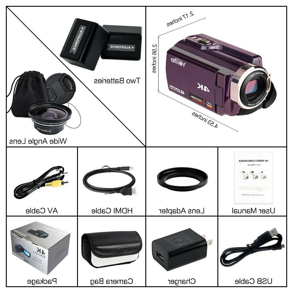 4K 16X Recorder Digital Video DV Camcorder
