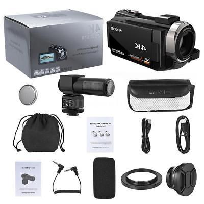"Andoer 4K WiFi HD 48MP 3"" Digital Camera Camcorder"