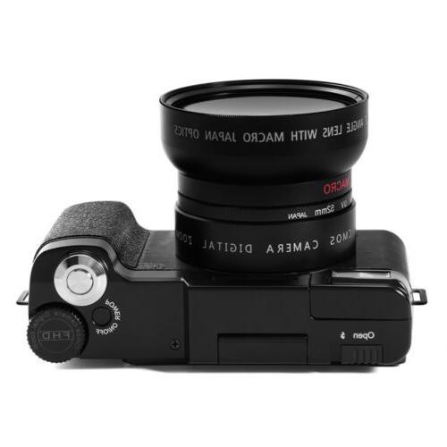 Digital 1080P Professional Camcorder Vlogging Camera
