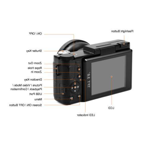 Digital HD 1080P Vlogging LF748