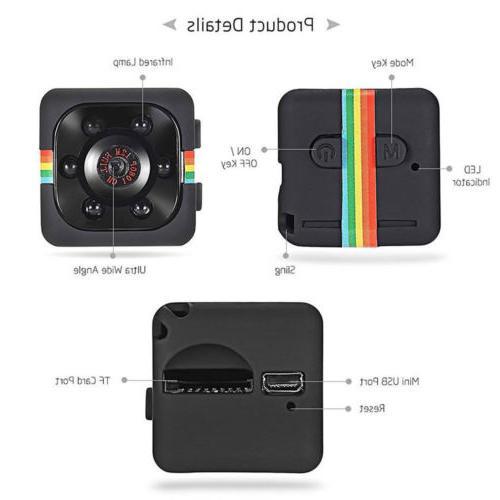 Mini SQ11 Full 1080P Video Recorder Camcorder IR Vision