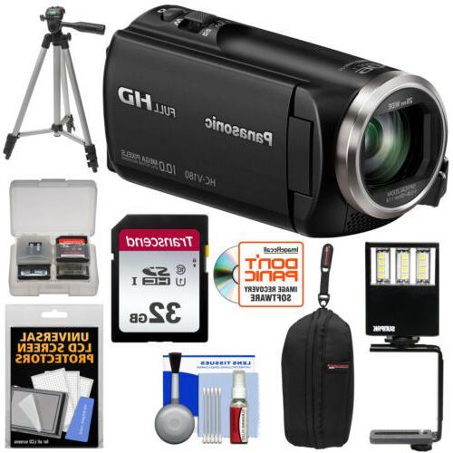 Panasonic HC-V180 HD Video Camera Camcorder Kit