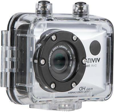 Vivitar - Action Camera with Remote - Silver