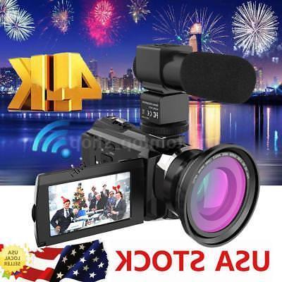 WiFi 4K ULTRA HD 1080P 48MP Digital Video Camera Camcorder R