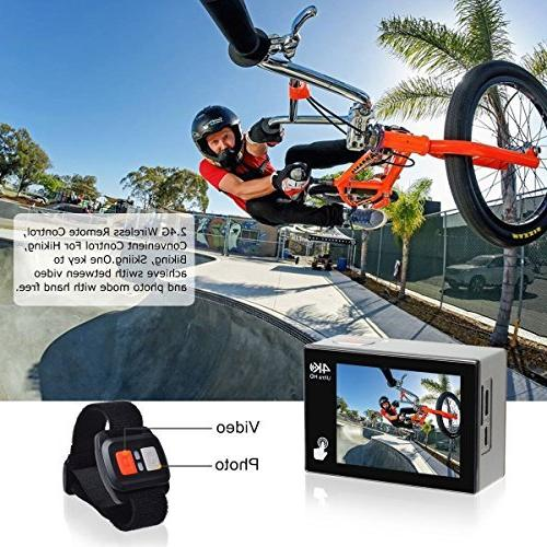 Campark X20 4K 20MP Waterproof Action for Travel with Touch EIS Remote