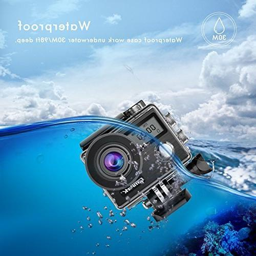Campark 4K 20MP Waterproof Action Travel EIS Remote Control