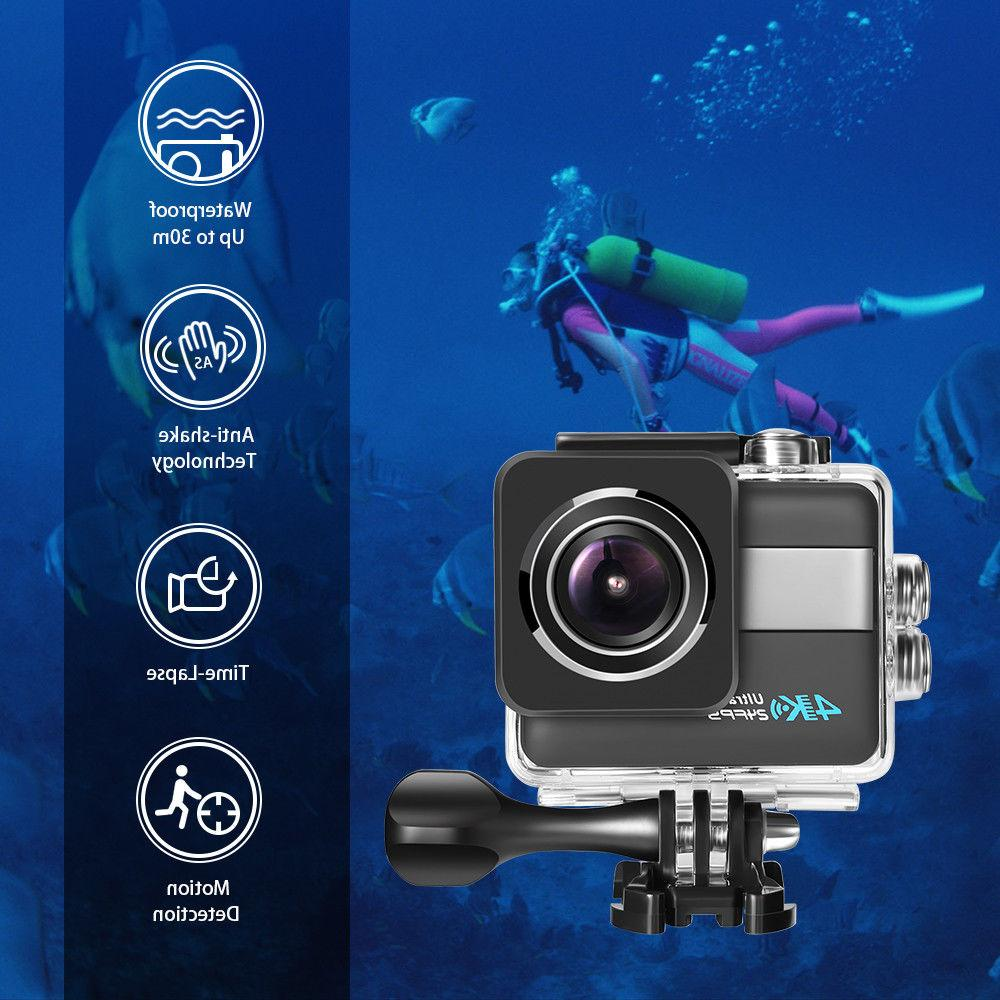 Action Camera HD Touchscreen DV Camcorder Image Stabilization 20MP
