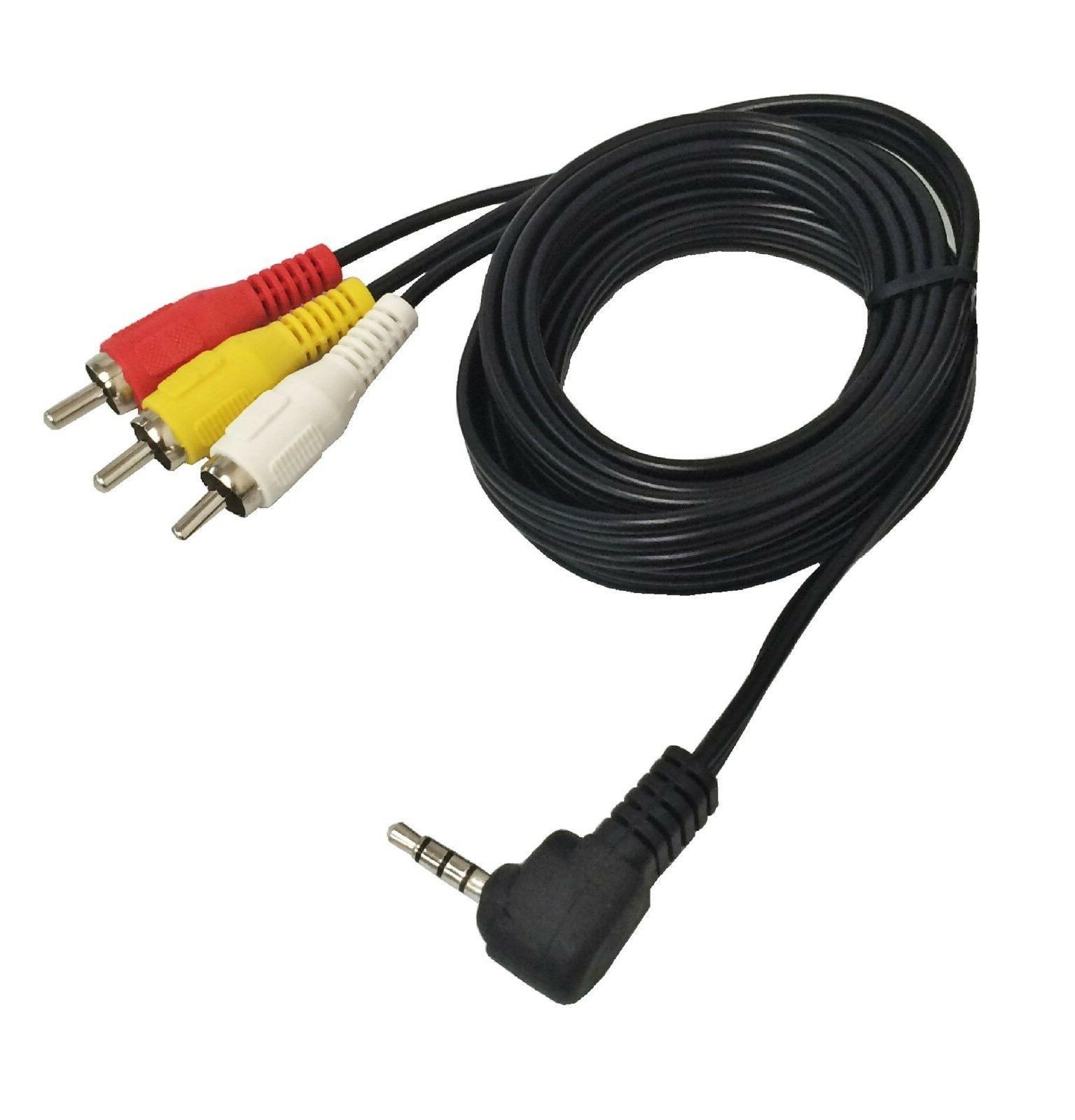 6ft. 3.5MM Video Audio  to 3 -RCA AV Camcorder TV Audio/Vide