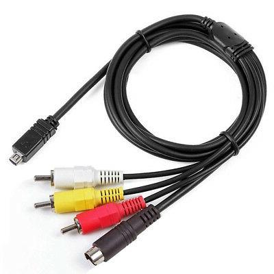 AV A/V Audio Video TV-Out Cable Cord Lead For Sony Camcorder