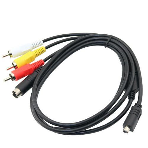 AV A/V Video TV Cable RCA DCR-SR42 Camcorder