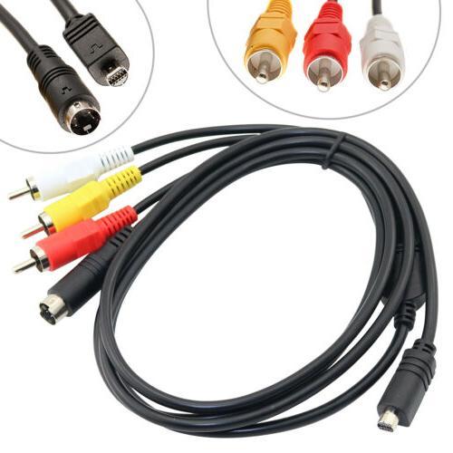 AV A/V Audio Video TV Cord RCA for DCR-SR42 Camcorder