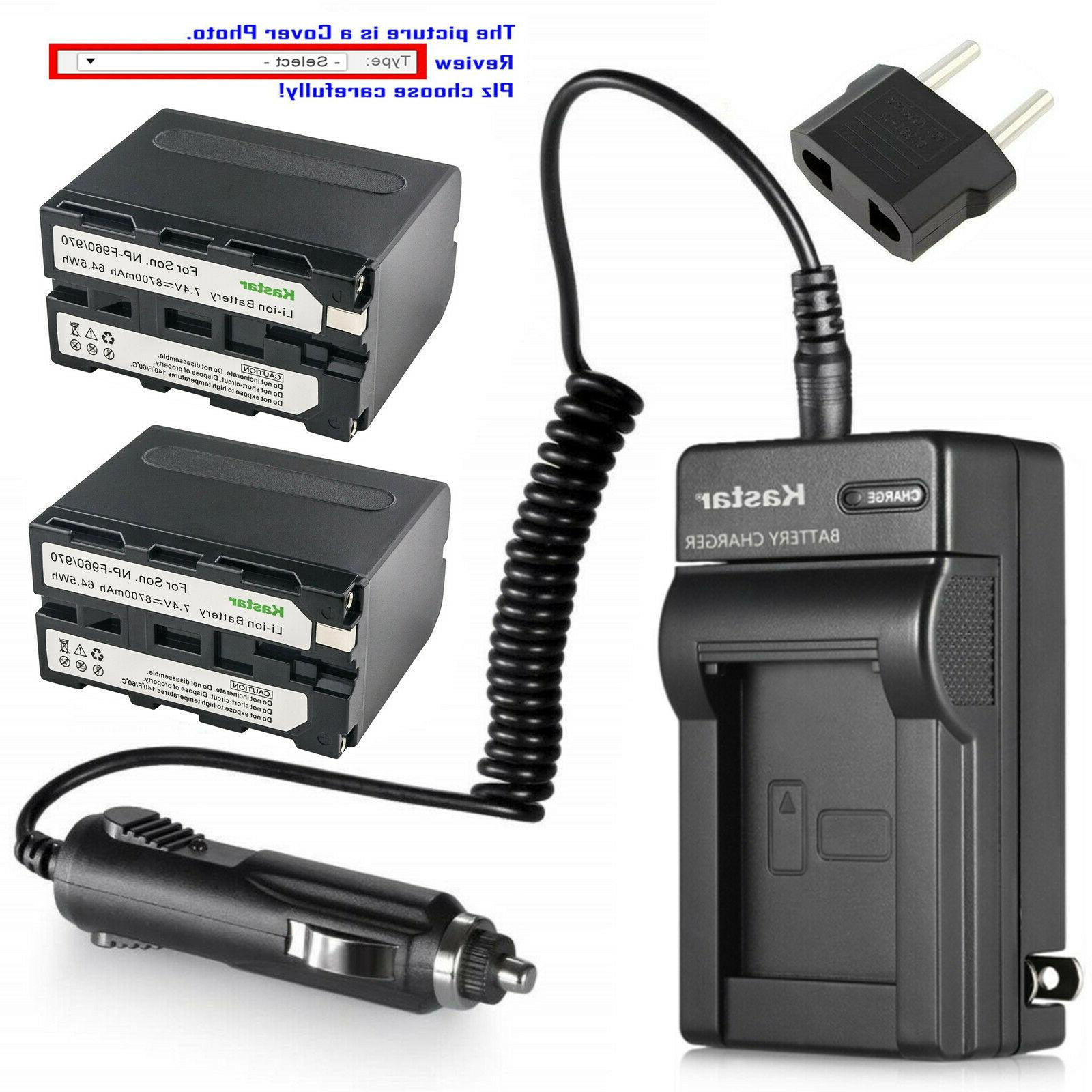 Kastar Battery Charger for Sony NP-F330 NP-F550 NP-F750 NP-F