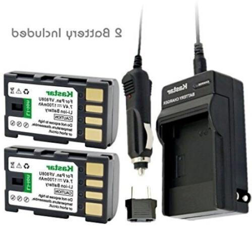 Kastar BN-VF808 Battery  And Charger Kit For JVC BN-VF808, B