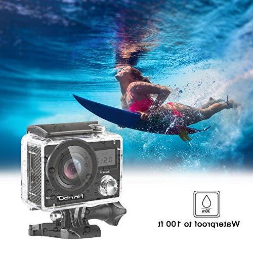 AKASO Brave 20MP WiFi Ultra HD 30m Underwater Waterproof Remote Control Underwater Batteries Kit
