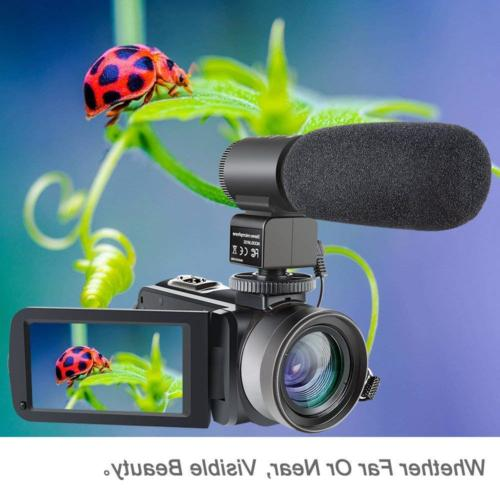 Camcorder,Besteker 1080P Video IR Vision HD Digital