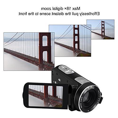 Camcorder Video Camera SEREE Full HD 24.0 Digital Zoom Recording