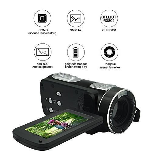 Camcorder Full MP Digital Camera 18× Digital Recording