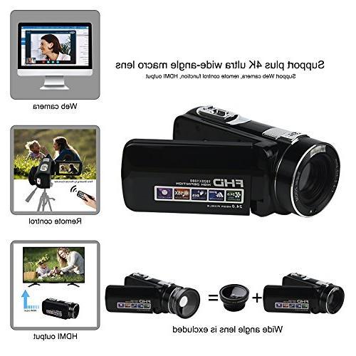 Camcorder Camera SEREE Full HD 24.0 MP Digital Camera Digital Zoom Portable Recording