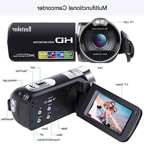 Camera Besteker 1080P Recorder 24M Digital 2.7 LCD 270 Degree