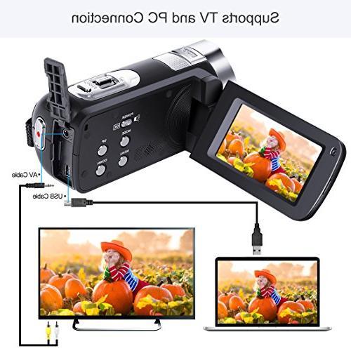 Camera 1080P Recorder HD Digital Zoom 2.7 Inch 270 Degree Rotation Screen