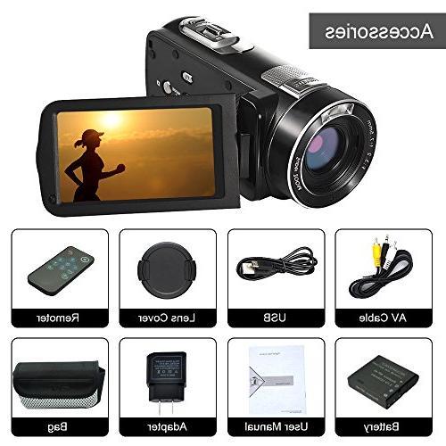 Digital SEREE Full Vlog 24.0MP Digital Screen Camcorders