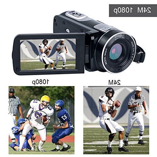 """Digital Video SEREE Full Vlog Camera Digital 3.0"""" Screen Night Vision Camcorders"""