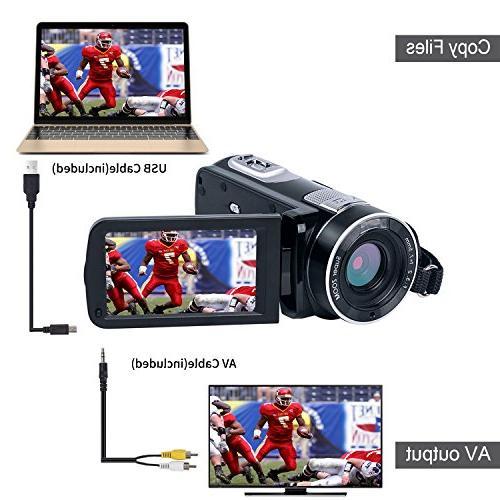 Digital Camera SEREE Vlog Camera 24.0MP Digital Screen Night Camcorders