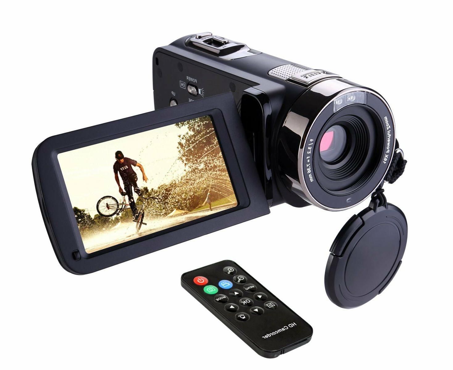 Remote Control Camcorder FHD Infrared Night Vision 1080p 24