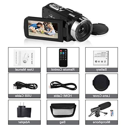 SEREE Camcorder 1080P 30FPS with IR LCD Touch Digital Video Camera Microphone