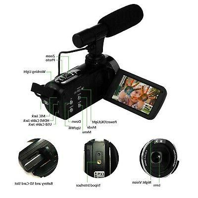 """SEREE Camcorder WiFi Control 3.0"""" Touch"""