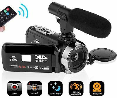 camcorder 4k 30mp wifi control digital camera