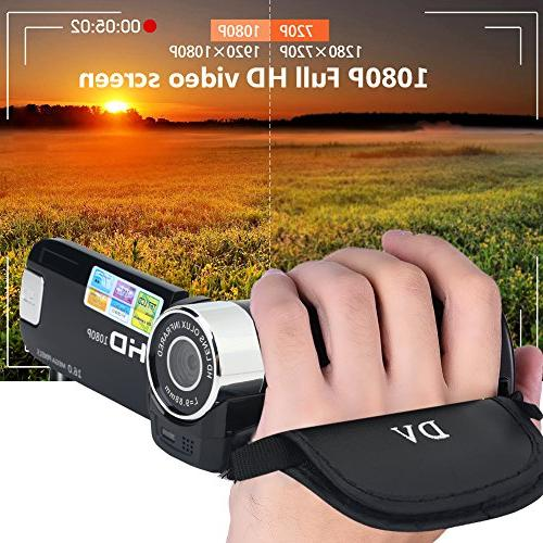 Camera Video Handy Full 270° Rotation 1080P Digital DV Camera Great Gift Kids