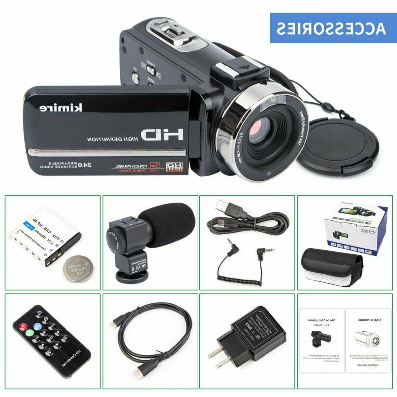 Camcorder Camera,Kimire Camera With Microphone Control