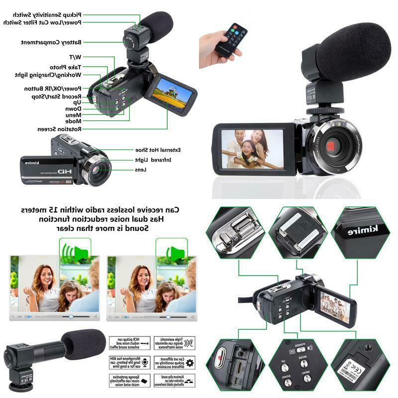 camcorder camera hd 1080p camera with microphone