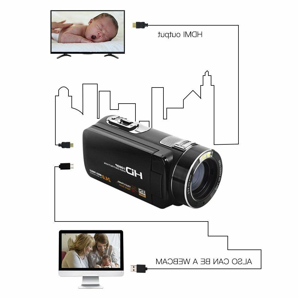 SEREE Camcorder HDMI Cable Zoom