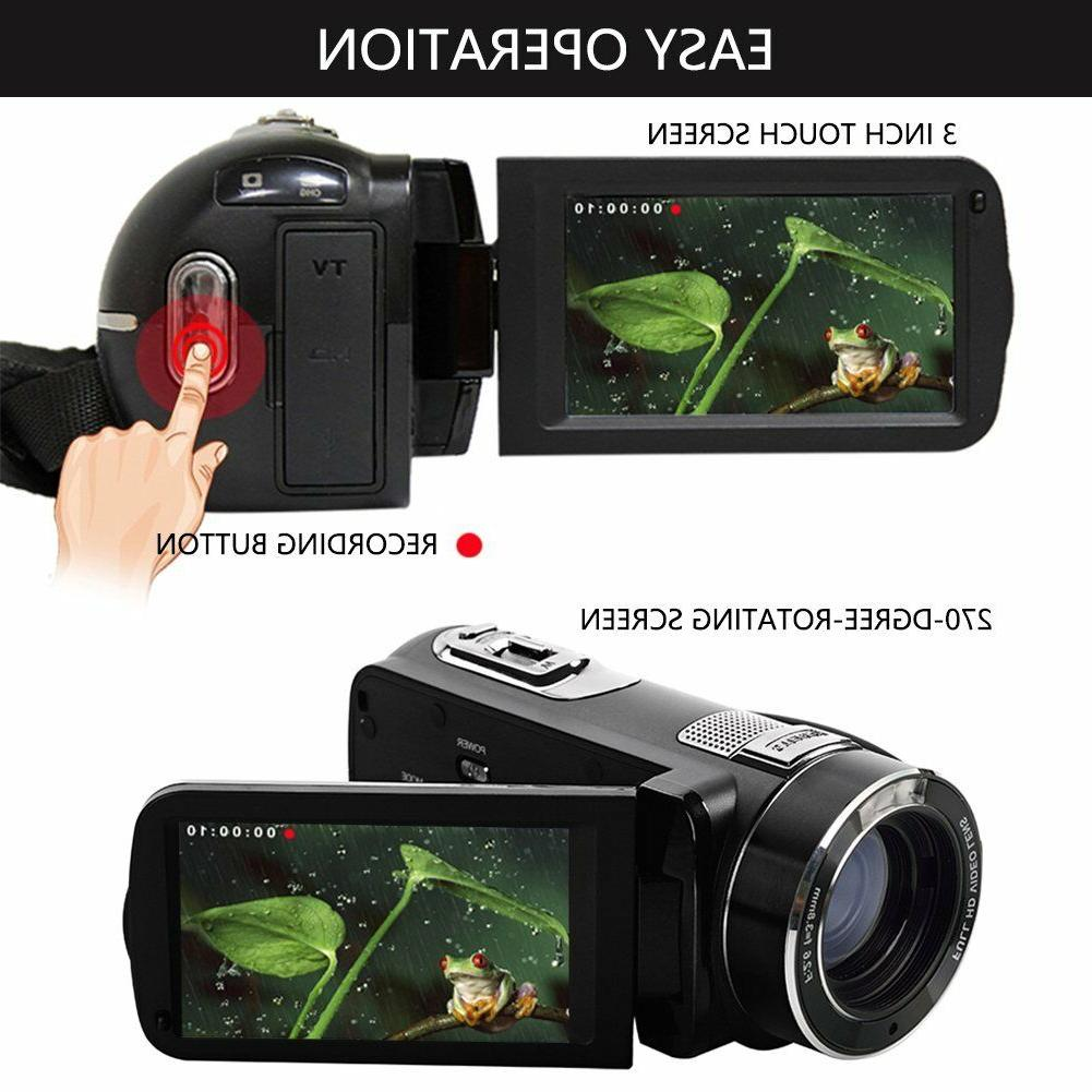 SEREE Camcorder 24.0 MP HDMI Cable 18× Zoom