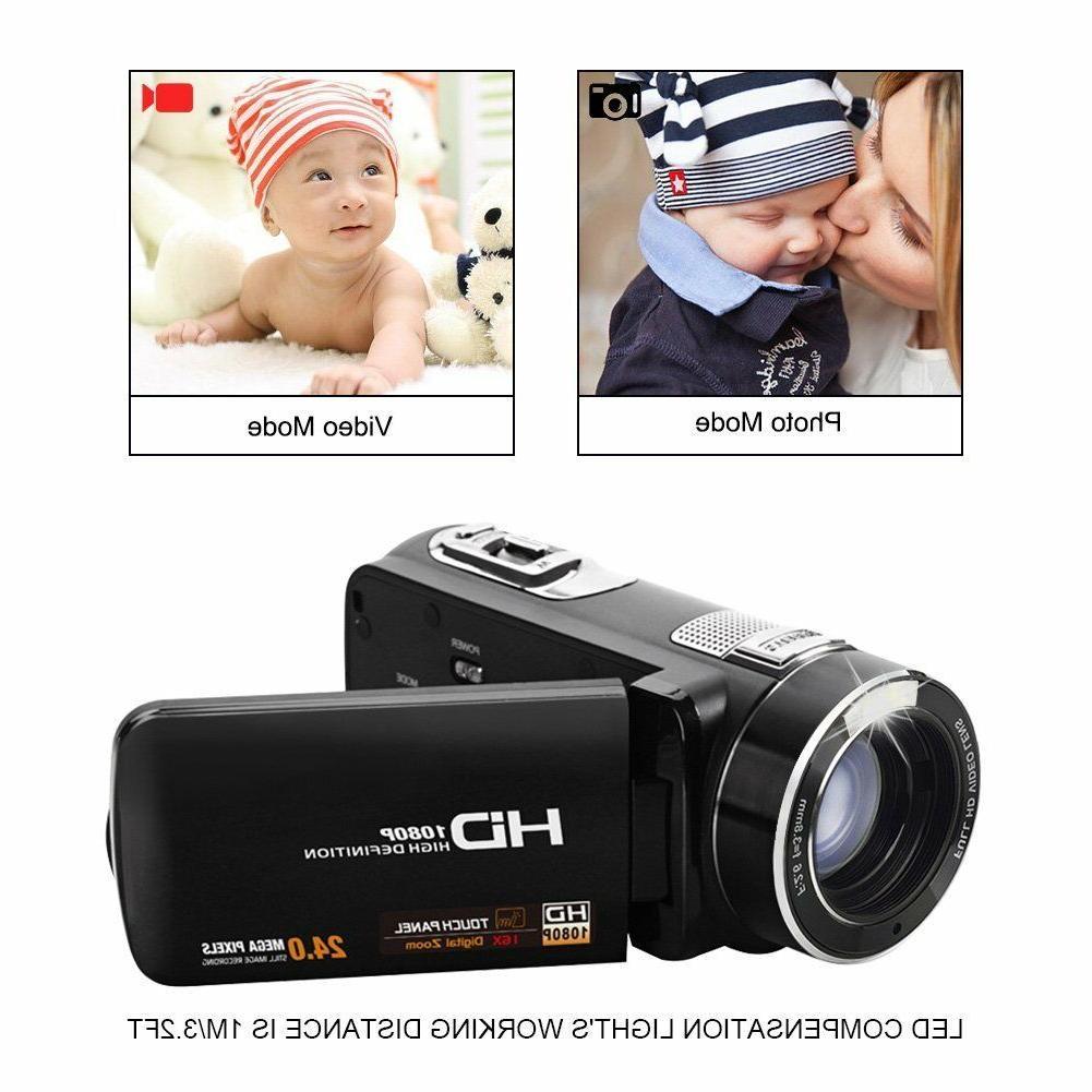 SEREE Camcorder 24.0 MP Digital HDMI Cable Zoom