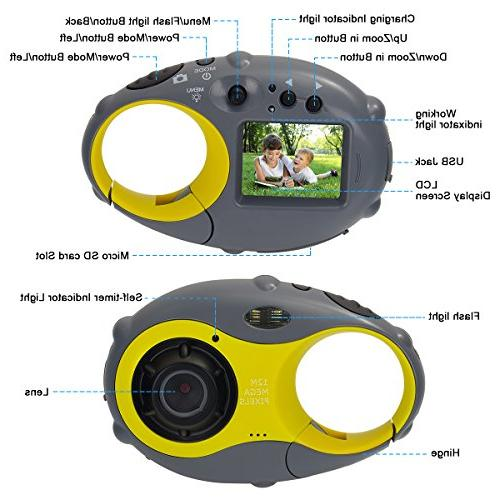 Funkprofi Kids 1080P 12MP for Boys and with Supports Up to Card, Ideal for Kids