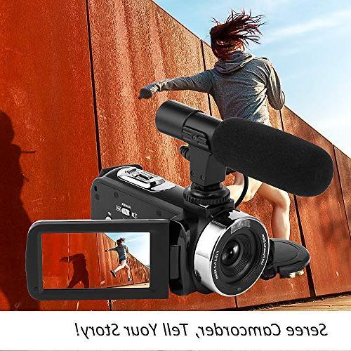 Camcorder HD 1080P Vision Camcorder Camera 16x Vlog YouTube Videos
