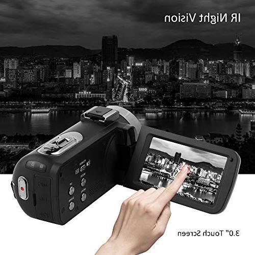 Camcorder HD 1080P Camcorder Blogging Camera 16x Digital Camera Vlog Video YouTube Videos