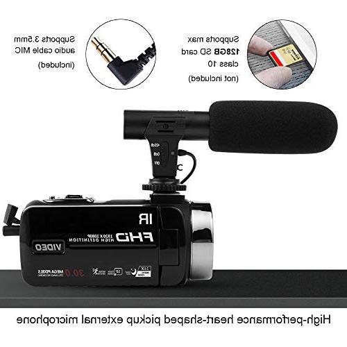 Camcorder Camera Full HD Night Vision Camcorder Vlogging Camera 16x Vlog YouTube Videos