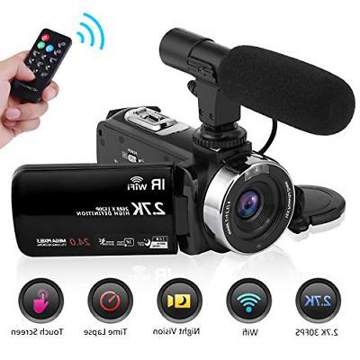 camcorder video camera 2 7k wifi vlogging