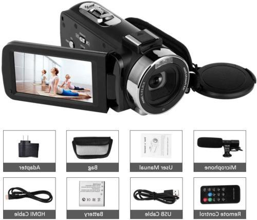 Camcorder Camera 48MP Night Vision