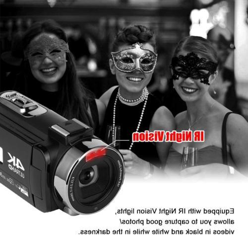 Camcorder Camera 4K 48MP Night Vision