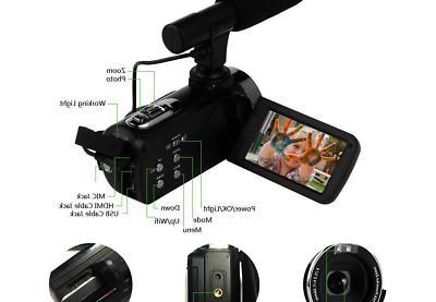 Camcorder Video 48MP WiFi Camera Night Vision