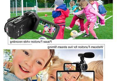 Camcorder Video Camera 48MP YouTube Camera Night